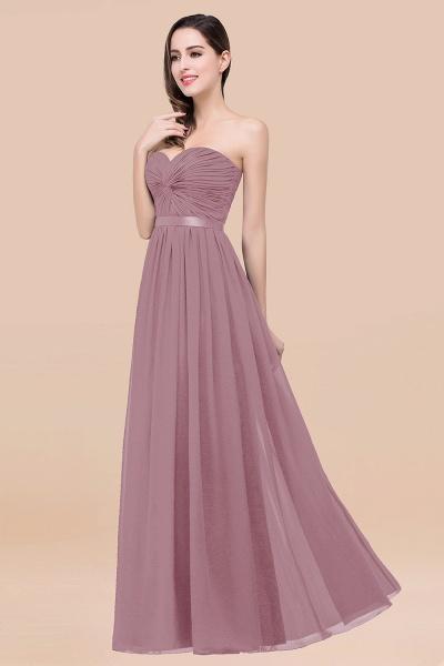 Elegant A-Line Chiffon Sweetheart Sleeveless Floor-Length Bridesmaid Dress with Ribbon_43