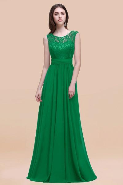 Elegant A-line Chiffon Lace Scoop Sleeveless Floor-Length Bridesmaid Dress_49