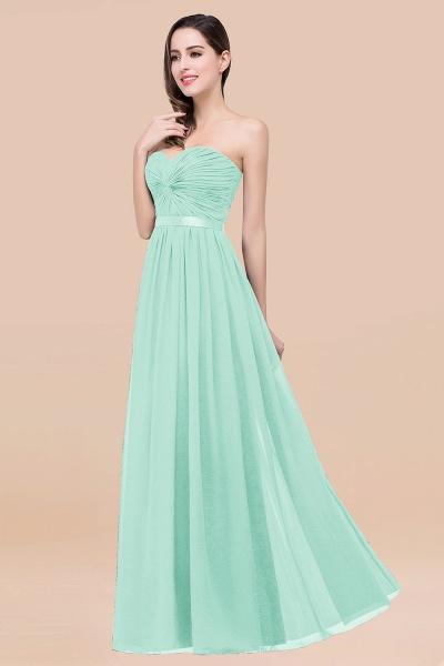 Elegant A-Line Chiffon Sweetheart Sleeveless Floor-Length Bridesmaid Dress with Ribbon_36