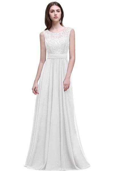 Eye-catching Scoop Chiffon A-line Evening Dress_1