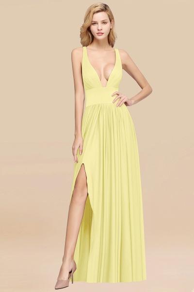 BM0141 A-Line V-Neck Sleeveless Long Ruffles Bridesmaid Dress_16