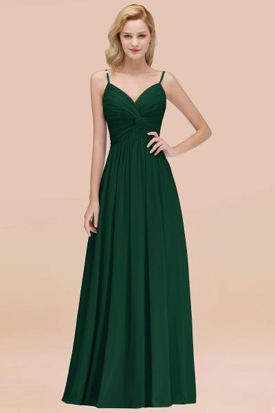 A-Line Chiffon V-Neck Spaghetti Straps Floor-Length Bridesmaid Dresses_31