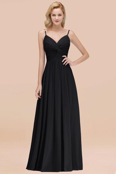 A-Line Chiffon V-Neck Spaghetti Straps Floor-Length Bridesmaid Dresses_29