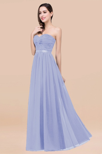 Elegant A-Line Chiffon Sweetheart Sleeveless Floor-Length Bridesmaid Dress with Ribbon_22