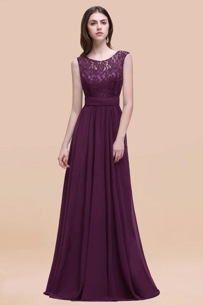Elegant A-line Chiffon Lace Scoop Sleeveless Floor-Length Bridesmaid Dress_20
