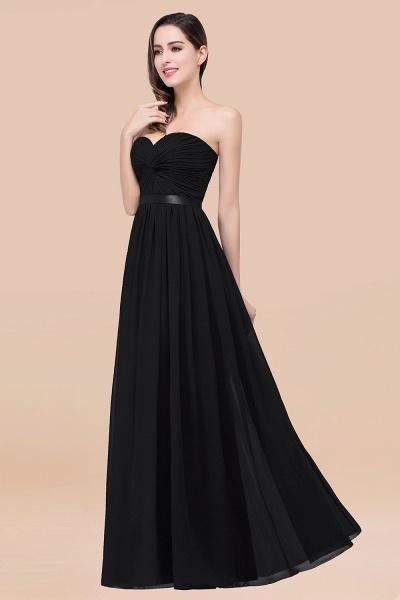 Elegant A-Line Chiffon Sweetheart Sleeveless Floor-Length Bridesmaid Dress with Ribbon_29