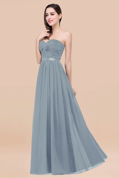 Elegant A-Line Chiffon Sweetheart Sleeveless Floor-Length Bridesmaid Dress with Ribbon_40