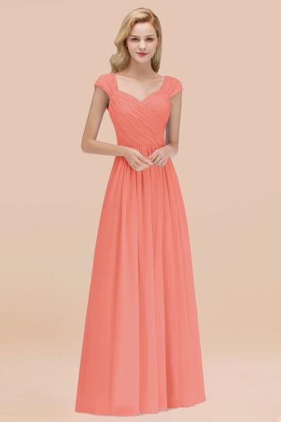 A-Line Chiffon Straps Sweetheart Sleeveless Floor-Length Bridesmaid Dress with Ruffles_45