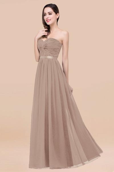 Elegant A-Line Chiffon Sweetheart Sleeveless Floor-Length Bridesmaid Dress with Ribbon_16