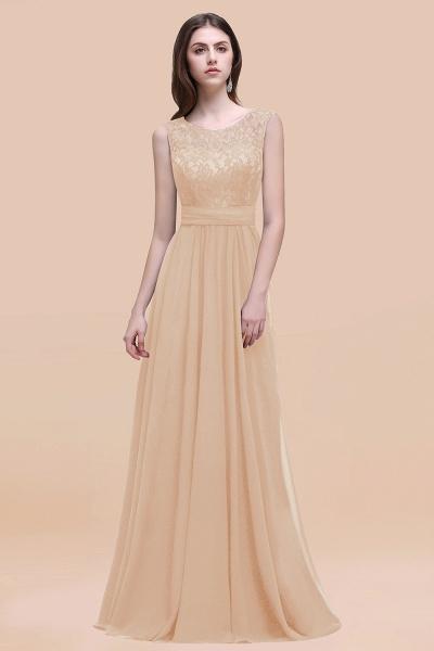 Elegant A-line Chiffon Lace Scoop Sleeveless Floor-Length Bridesmaid Dress_14