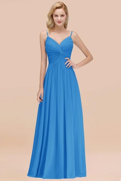 A-Line Chiffon V-Neck Spaghetti Straps Floor-Length Bridesmaid Dresses_25