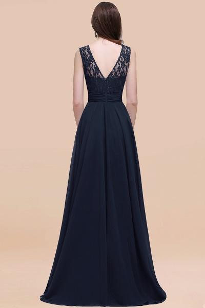 Elegant A-line Chiffon Lace Scoop Sleeveless Floor-Length Bridesmaid Dress_52