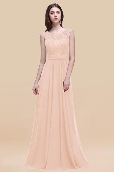 Elegant A-line Chiffon Lace Scoop Sleeveless Floor-Length Bridesmaid Dress_5