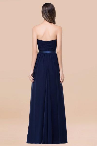 Elegant A-Line Chiffon Sweetheart Sleeveless Floor-Length Bridesmaid Dress with Ribbon_52