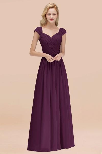 A-Line Chiffon Straps Sweetheart Sleeveless Floor-Length Bridesmaid Dress with Ruffles_20