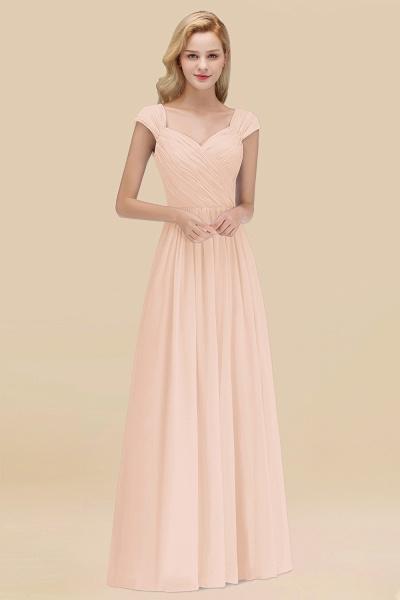 A-Line Chiffon Straps Sweetheart Sleeveless Floor-Length Bridesmaid Dress with Ruffles_5