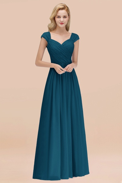 A-Line Chiffon Straps Sweetheart Sleeveless Floor-Length Bridesmaid Dress with Ruffles_27