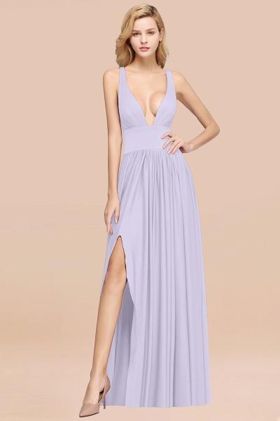 BM0141 A-Line V-Neck Sleeveless Long Ruffles Bridesmaid Dress_19