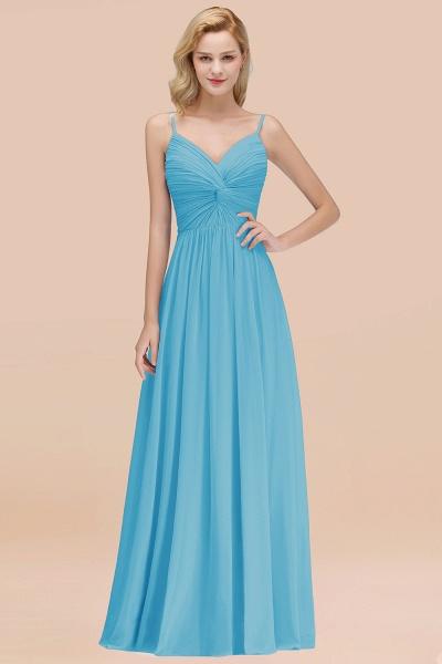 A-Line Chiffon V-Neck Spaghetti Straps Floor-Length Bridesmaid Dresses_24