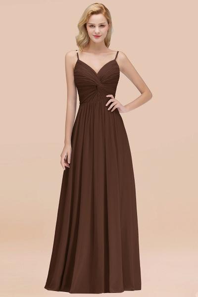 A-Line Chiffon V-Neck Spaghetti Straps Floor-Length Bridesmaid Dresses_12