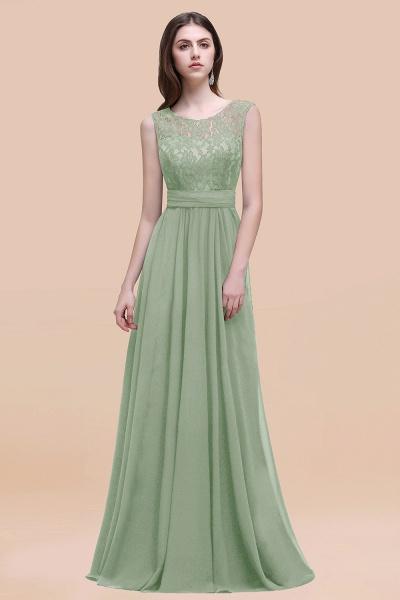Elegant A-line Chiffon Lace Scoop Sleeveless Floor-Length Bridesmaid Dress_41
