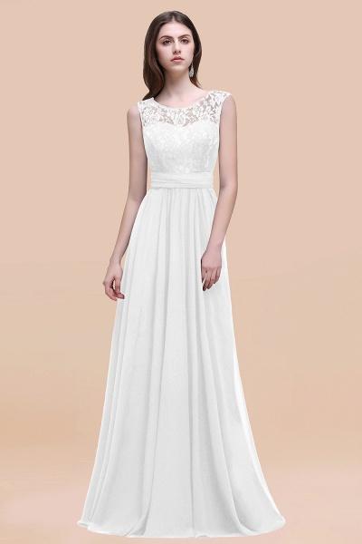 Elegant A-line Chiffon Lace Scoop Sleeveless Floor-Length Bridesmaid Dress_1