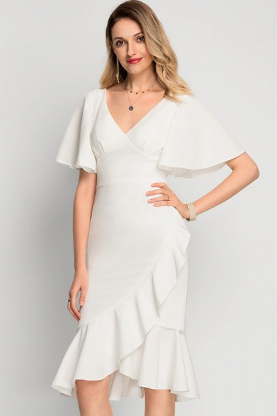 Trumpet/Mermaid Asymmetrical Stretch Crepe Cocktail Dress