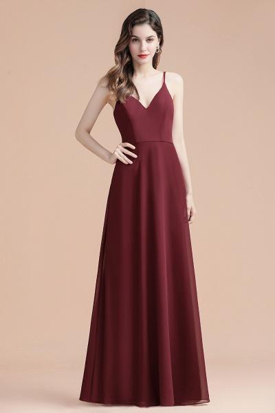 Elegant Straps V-Neck Chiffon Evening Formal Dress_9