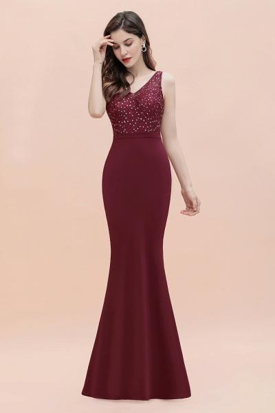 V-Neck Mermaid Evening Dress Sequins Chiffon Slim Party Dress_6