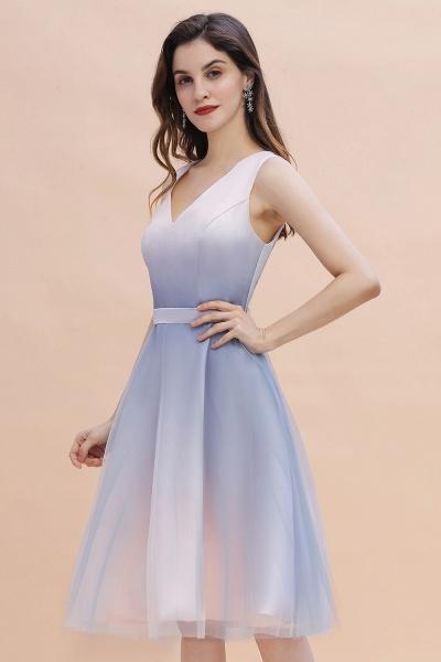 Elegant V-Neck Gradient A-line Mini Homecoming Dress_5