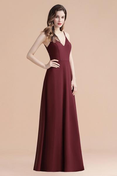 Elegant Straps V-Neck Chiffon Evening Formal Dress_8