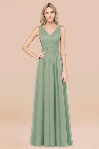 A-Line Chiffon Straps V-Neck Sleeveless Floor-Length Bridesmaid Dress with Ruffles_41