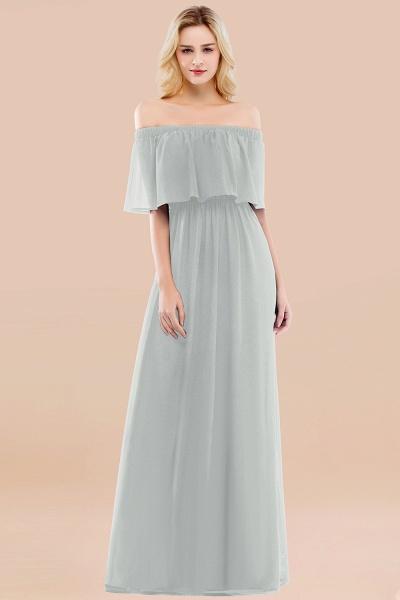 A-line Chiffon Off-the-Shoulder Short-Sleeves Ruffles Floor-length Bridesmaid Dress_38