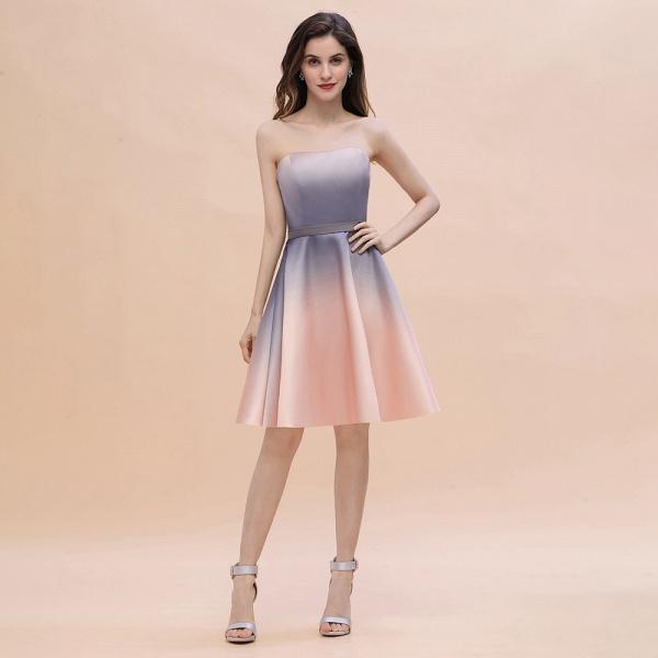 A-line Sweetheart Gradient Short Evening Party Dress_1