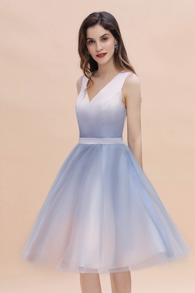 Elegant V-Neck Gradient A-line Mini Homecoming Dress_9