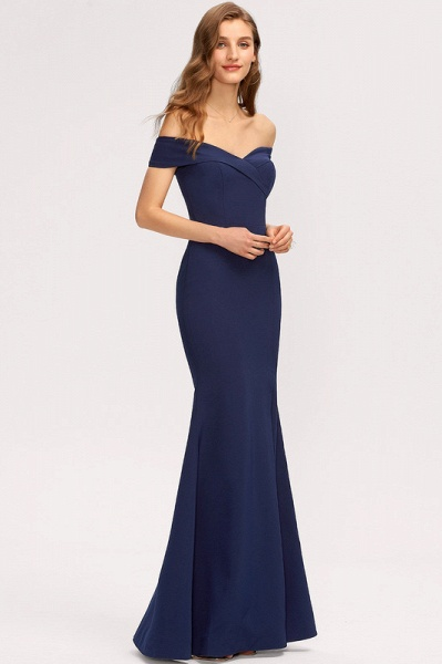 Trumpet/Mermaid Off-the-Shoulder Floor-Length Stretch Crepe Evening Dress With Split Front_3