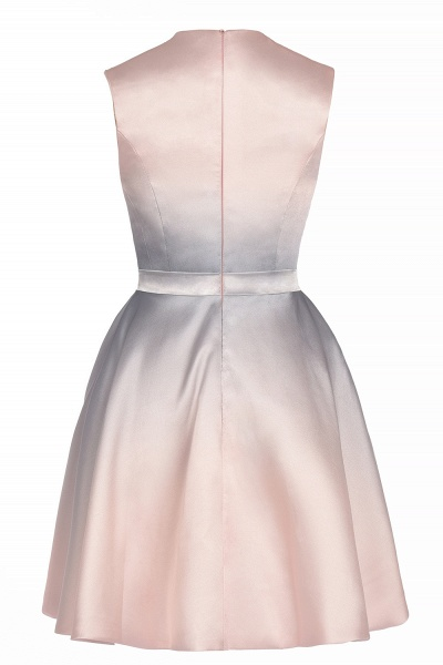 Elegant Gradient A-line Daily Casual Sleeveless Evening Party Dress_11