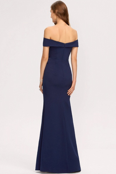 Trumpet/Mermaid Off-the-Shoulder Floor-Length Stretch Crepe Evening Dress With Split Front_5