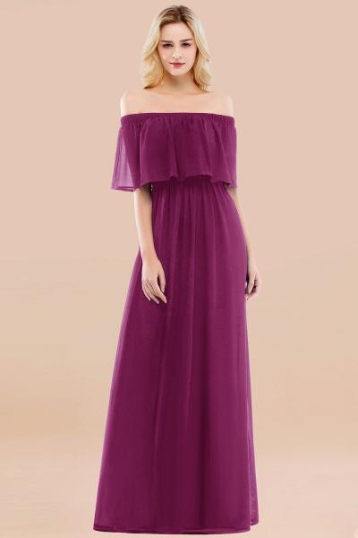 A-line Chiffon Off-the-Shoulder Short-Sleeves Ruffles Floor-length Bridesmaid Dress_42