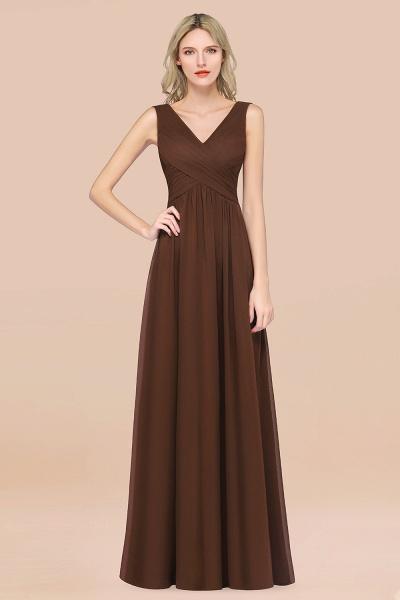A-Line Chiffon Straps V-Neck Sleeveless Floor-Length Bridesmaid Dress with Ruffles_12
