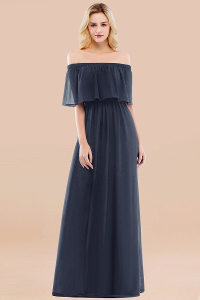 A-line Chiffon Off-the-Shoulder Short-Sleeves Ruffles Floor-length Bridesmaid Dress_39