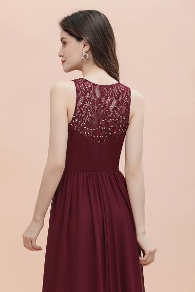 V-Neck A-line Chiffon Sleeveless Evening Maxi Dress_11