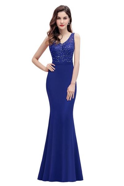 V-Neck Mermaid Evening Dress Sequins Chiffon Slim Party Dress_2