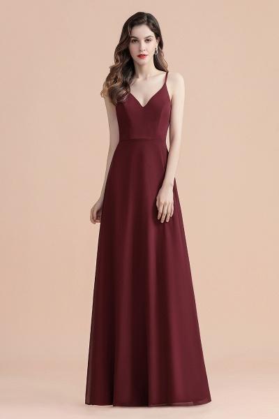 Elegant Straps V-Neck Chiffon Evening Formal Dress_5