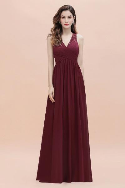 V-Neck A-line Chiffon Sleeveless Evening Maxi Dress_7