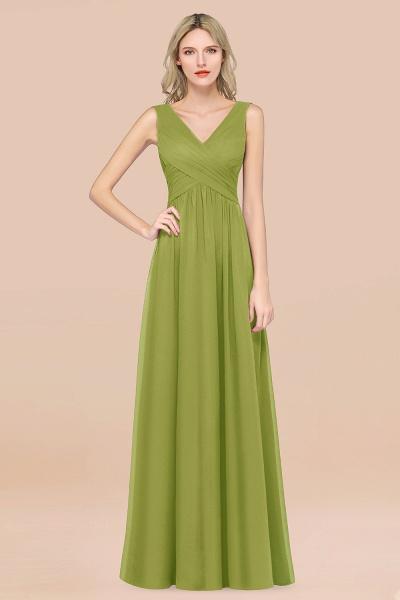 A-Line Chiffon Straps V-Neck Sleeveless Floor-Length Bridesmaid Dress with Ruffles_34