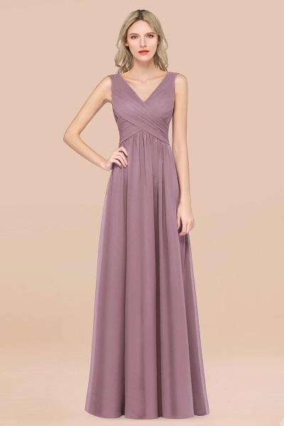 A-Line Chiffon Straps V-Neck Sleeveless Floor-Length Bridesmaid Dress with Ruffles_43