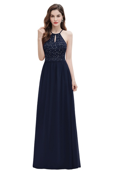 Halter Sequins A-line Chiffon Evening Dress_12