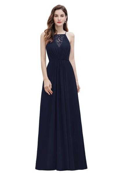 Straps Bateau A-line Sequins Chiffon Evening Prom Dress_3