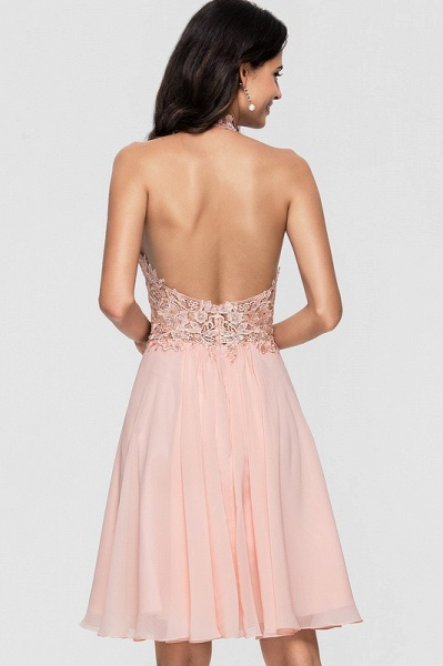 A-Line Halter Knee-Length Chiffon Homecoming Dress With Lace Beading_5